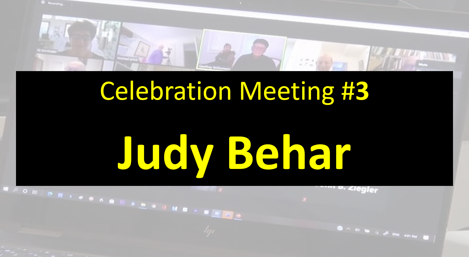 Celebration Meeting - #3 Judy Behar