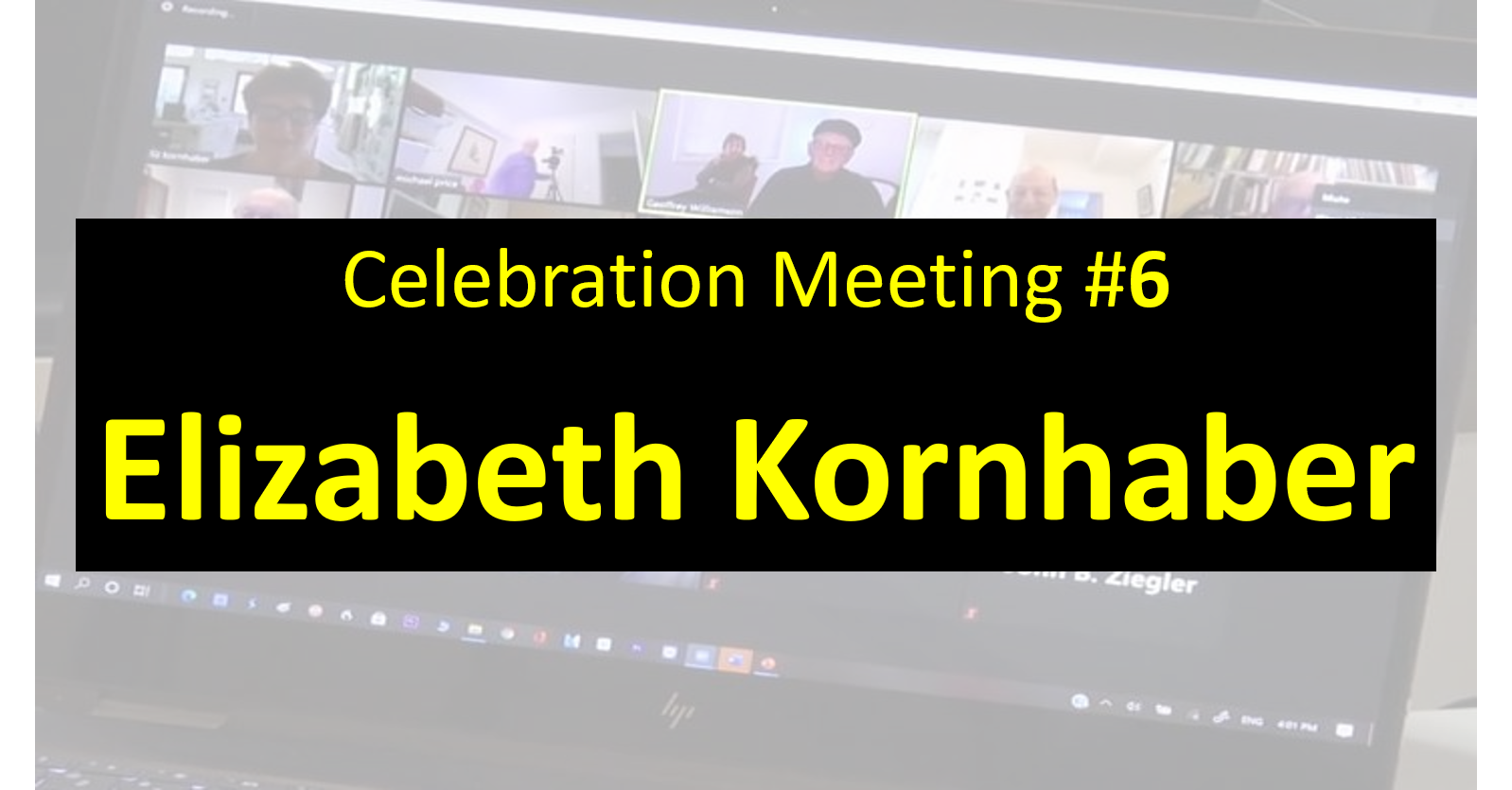 Celebration Meeting - #6 Elizabeth Kornhaber