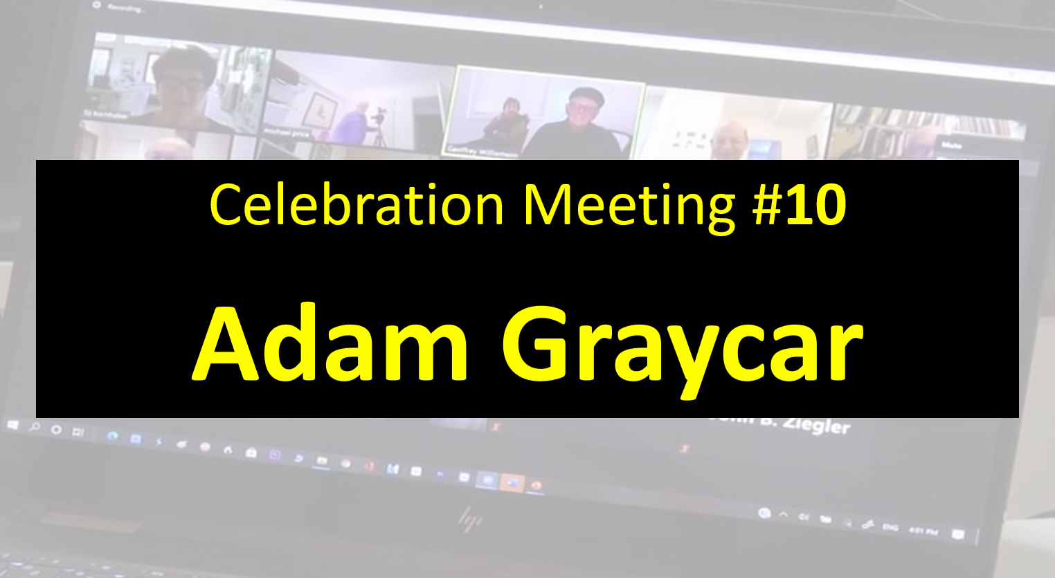 Celebration Meeting - #10 Adam Graycar