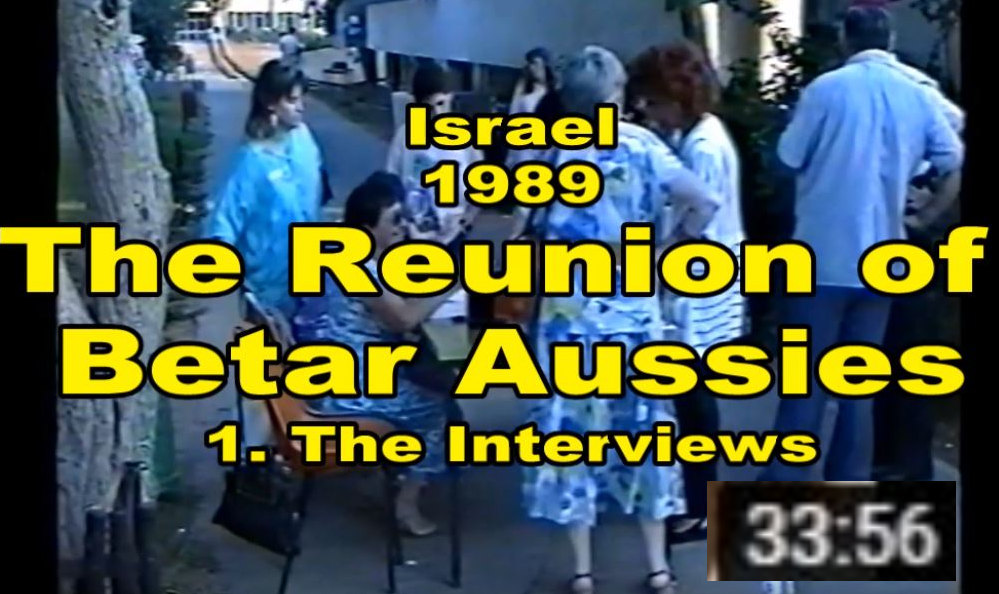 The Reunion of Betar Aussies - 1989 Part 1